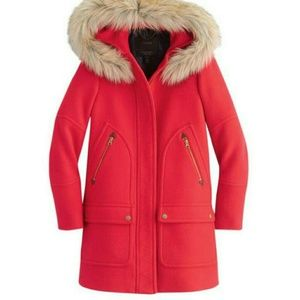 J.Crew Red Winter Coat Size 00P